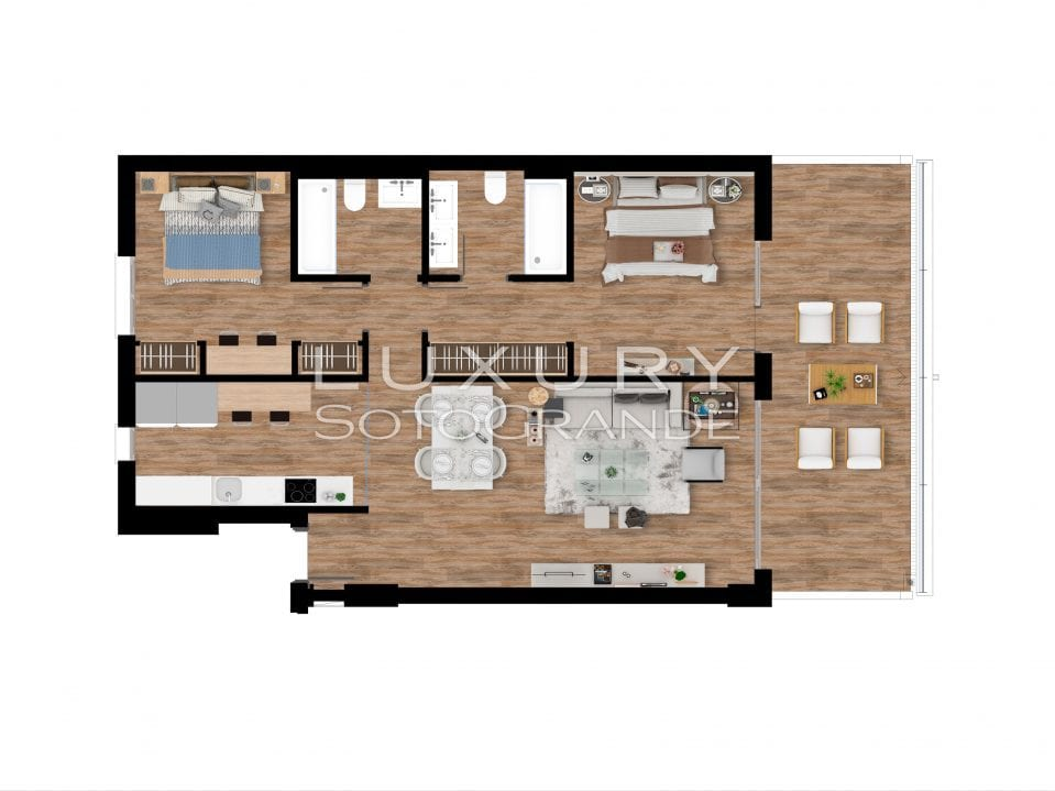 Plan_1_Pier_apartments_Sotogrande_2 ROOMS