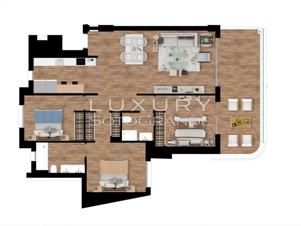 Plan_2_Pier_apartments_Sotogrande_3 ROOMS