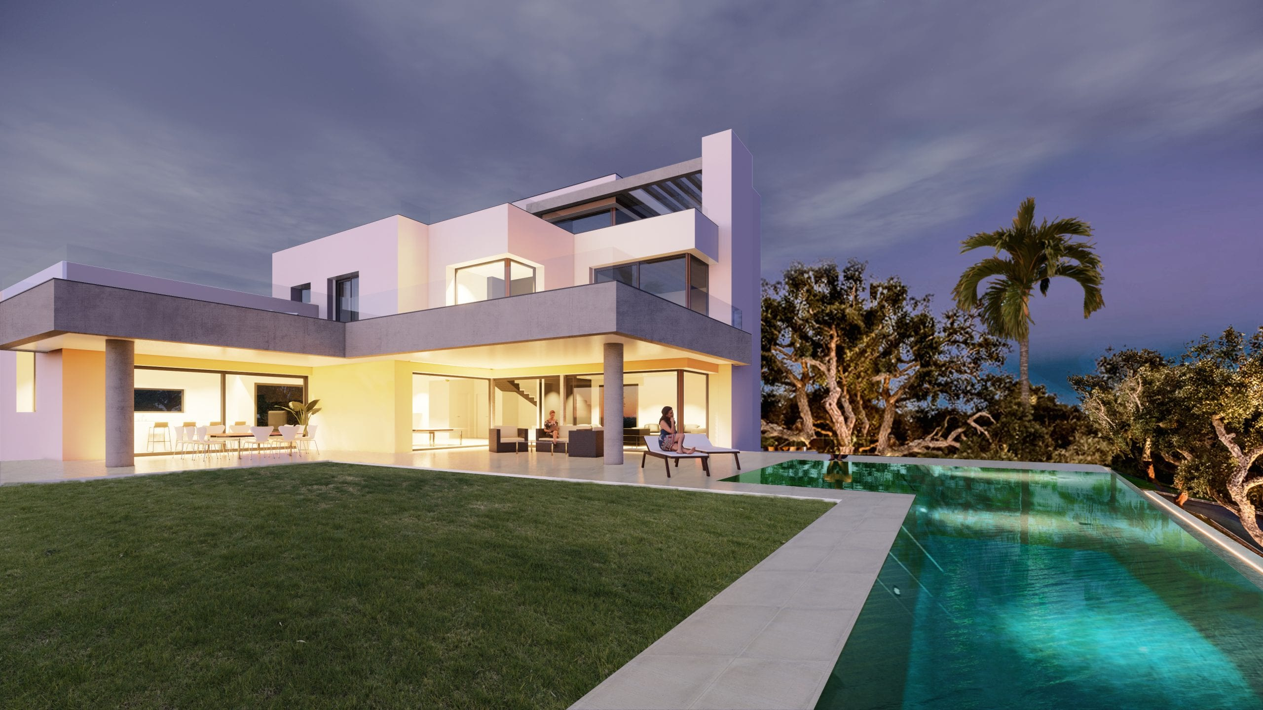 Stunning contemporary style project for sale in Sotogrande Alto